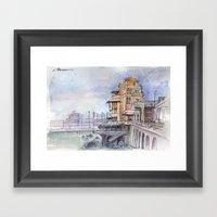 Castello sul mare Framed Art Print