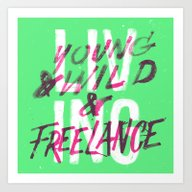 Art Print featuring Living Young & Wild & Fr… by CaliDoso