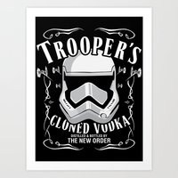 Trooper's Cloned Vodka Art Print