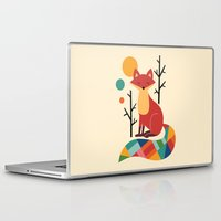 rainbow Laptop & iPad Skins featuring Rainbow Fox by Andy Westface