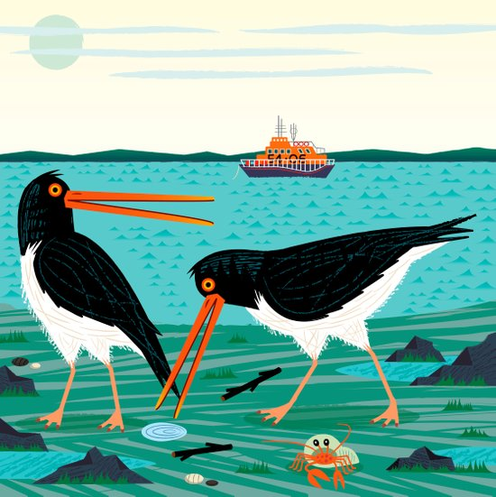 The Oystercatchers Art Print