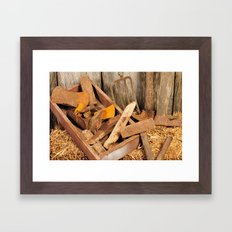 Rusted tools Framed Art Print