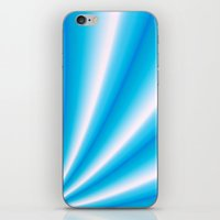 pale blue and white  iPhone & iPod Skin