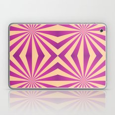 Purple and pale yellow - Geometric game Laptop & iPad Skin