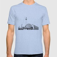 Berlin Alexandraplatz Mens Fitted Tee Athletic Blue SMALL