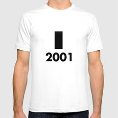 2001: A Minimalist Space Odyssey SMALL Mens Fitted Tee White