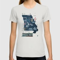 MISSOURI Womens Fitted Tee Silver SMALL