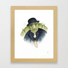 Mr. Tortoise's Luck Framed Art Print