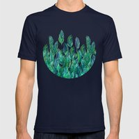 Jungle Rising  Mens Fitted Tee Navy SMALL