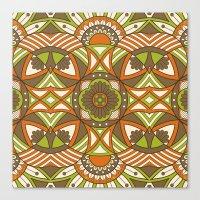 Boho Geometric Pattern 21 Canvas Print