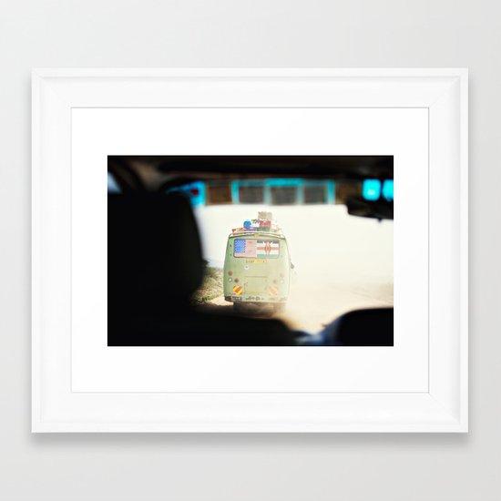 on the road::kenya Framed Art Print