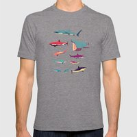 Sharks Mens Fitted Tee Tri-Grey SMALL