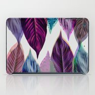 Pink Leaves iPad Case
