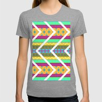 Vibrance Womens Fitted Tee Tri-Grey SMALL