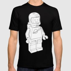 Vintage Lego Spaceman Wireframe Minifig SMALL Mens Fitted Tee Black