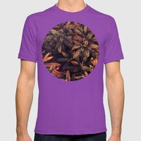 Leaves Evolved 5 Mens Fitted Tee Ultraviolet SMALL