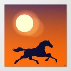 Racing Sunset Canvas Print