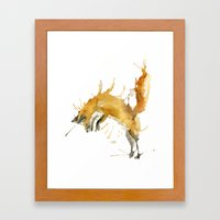 Jump Foxy Framed Art Print