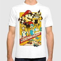 Lightning Cup Nights: The Fast & the Fungus Mens Fitted Tee White SMALL