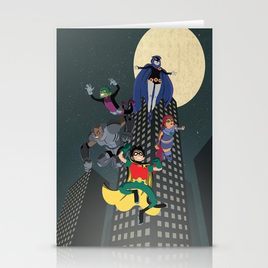 Teen Titans Stationery Card