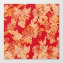 gold and red floral Canvas Print