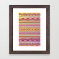 Caliente Tribal Party Framed Art Print