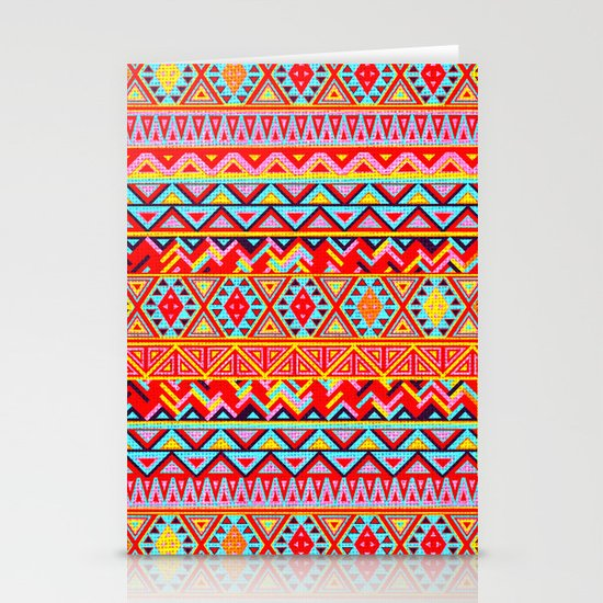 India Style Pattern (Multicolor) Stationery Card