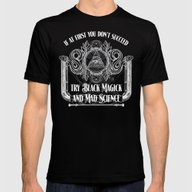 Black Magick And Mad Sci… Mens Fitted Tee Black SMALL