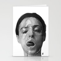 Monica Bellucci Traditional Portrait Print Stationery Cards