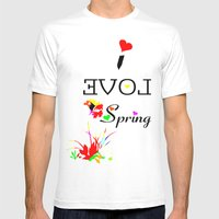I LOVE SPRING  Mens Fitted Tee White SMALL