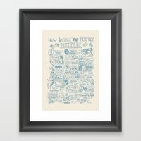 How to make the perfect mixtape Framed Art Print