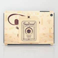 Pretty One Beige and Feminine Film Camera (Vintage and Retro Still Life Photography)  iPad Case