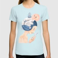 Sound of Sea Womens Fitted Tee Light Blue SMALL
