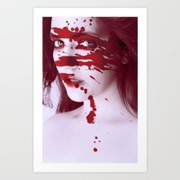 Blinded By Blood Art Print