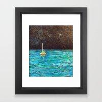 Sailboat Under The Stars Framed Art Print
