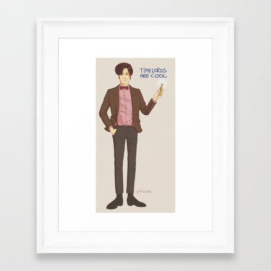 Doctor Who Framed Art Print