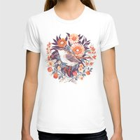 Wren Day Womens Fitted Tee White SMALL