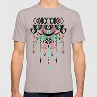 Modern Deco in Pink and Turquoise Mens Fitted Tee Cinder SMALL