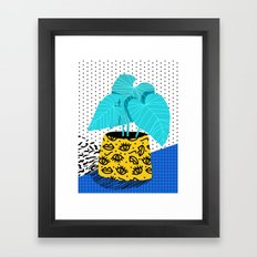 Totes magoats - memphis throwback retro house plant squiggle dot polka dot neon 1980s 80s style art Framed Art Print