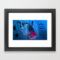 John 8/44+TheFish Nonrandom-art2 Framed Art Print