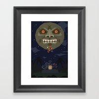 Majora's Mask Framed Art Print