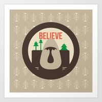 Believe Skoggs Troll Art Print