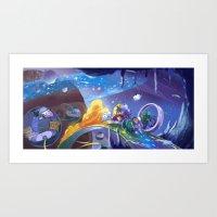 Space Race Art Print