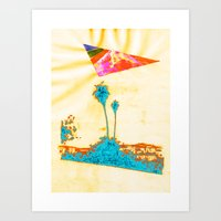 Summer In LA - Collabora… Art Print
