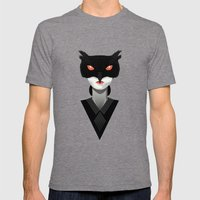 Do you like our owl? Mens Fitted Tee Tri-Grey SMALL