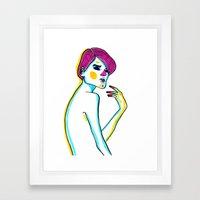 red fingers Framed Art Print