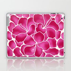 Hibiscus Flowers Animal Print RED PINK Laptop & iPad Skin