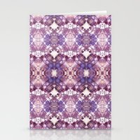Purple Circle Stationery Cards