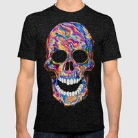 Chromatic Skull 02 Mens Fitted Tee Tri-Black SMALL