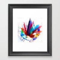 Dancing Peacock  Framed Art Print